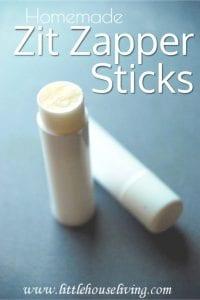Homemade Zit Zapper Sticks