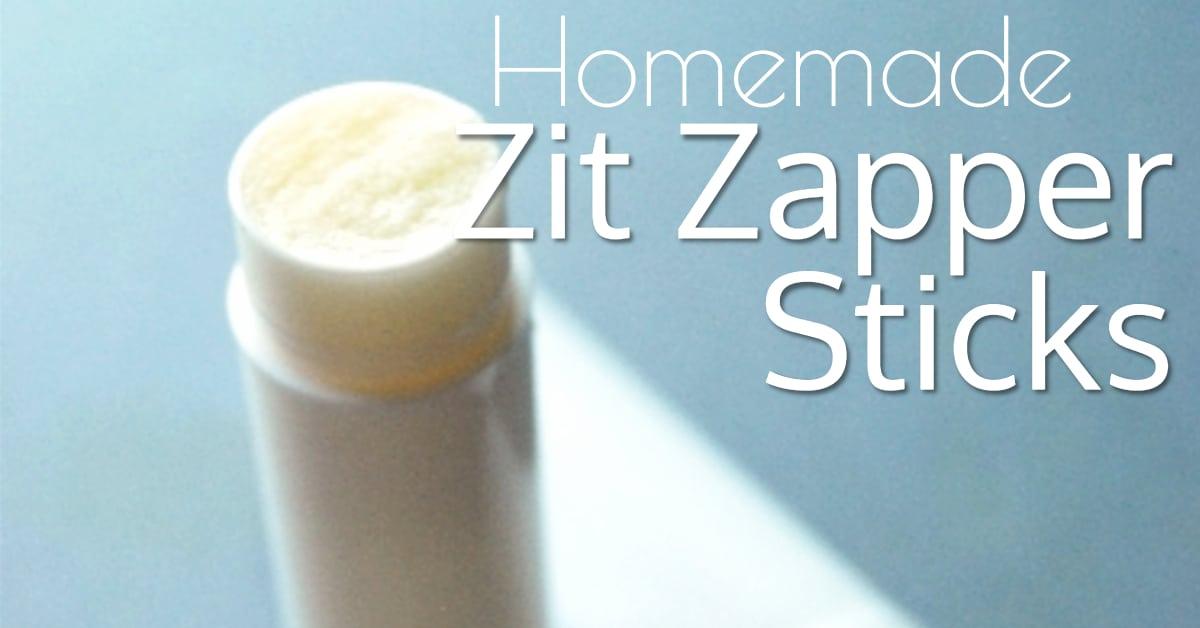 Natural Homemade Zit Zapper Cream Sticks