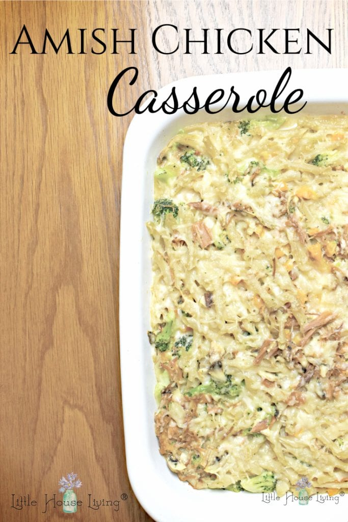 Need a delicious, comforting supper? This Amish Chicken Casserole is something that the whole family will enjoy! #supper #mealinspiration #amish #amishfood #amishchickencasserole #comfortfood