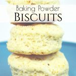 Looking for a new side dish recipe to try? This Baking Powder Biscuit recipe is just like grandma used to make! These are easy and hardly take any ingredients or effort.