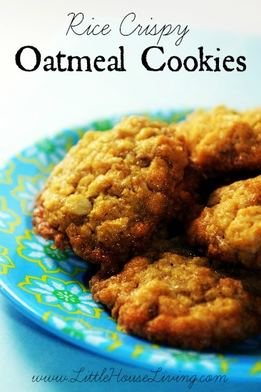 Rice Crispy Oatmeal Cookies Recipe - Little House Living