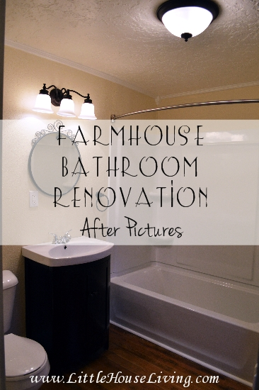 Our Farmhouse Bathroom Remodel - After the Renovation!