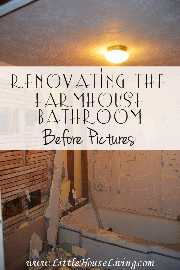 Our Farmhouse Bathroom Remodel - Before and During the Renovation!