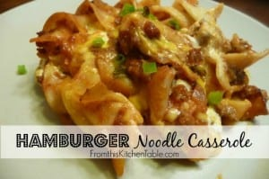 Hamburger Noodle Casserole by From This Kitchen Table