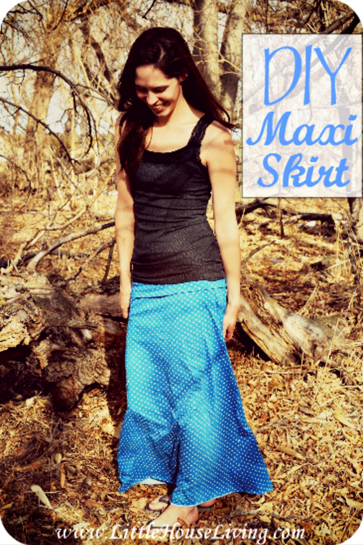 Are you looking for the perfect skirt? This free maxi skirt pattern is cute, comfortable, and such a nice project for a summer outfit. #diy #sewing #sewyourown #skirt #maxiskirt #freepattern