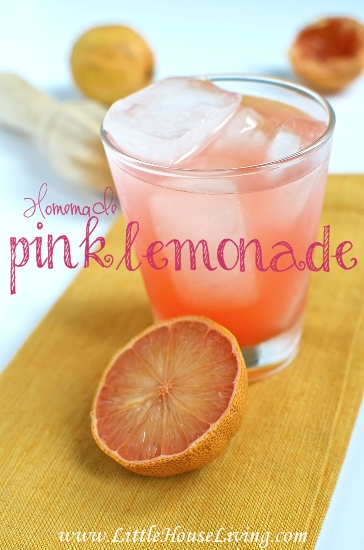 Homemade Pink Lemonade Recipe - Little House Living