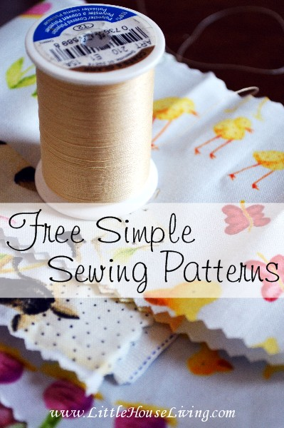 Free Simple Sewing Patterns - Little House Living