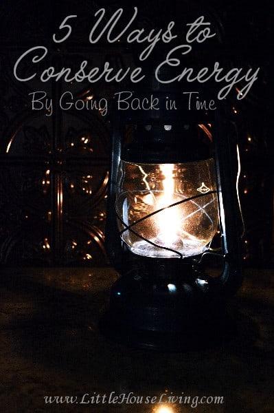 5 Ways to Conserve Energy