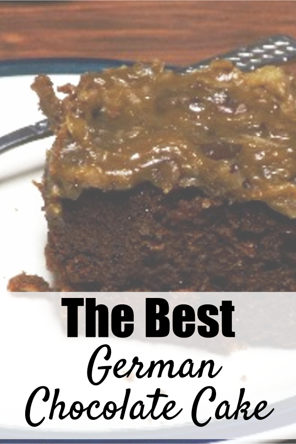 Need a yummy cake recipe to make for your next get-together? This really is the BEST German Chocolate Cake recipe! I hope you give it a try and love it as much as we do. #germanchocolatecake #germancake