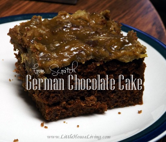 The Best German Chocolate Cake Recipe - Little House Living