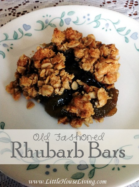 Old Fashioned Rhubarb Bars Recipe - Little House Living