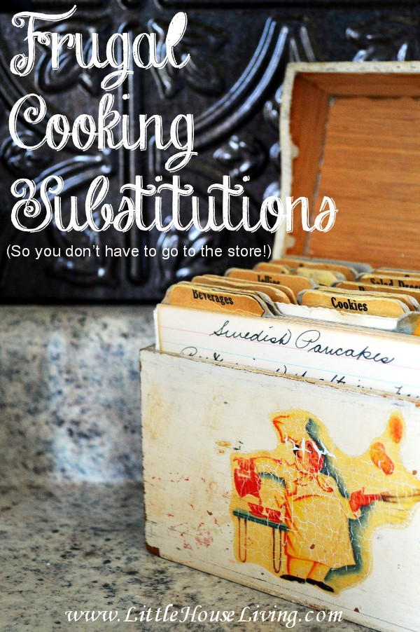 Easy Cooking Substitution Solutions