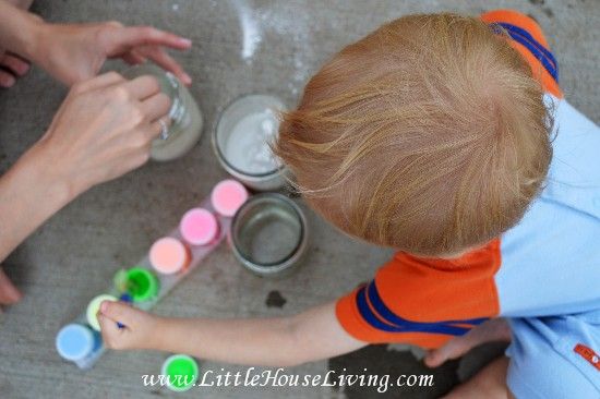 how to make chalkboard paint with plaster of paris