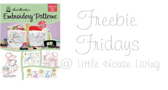 Friday Freebies: Aunt Martha's Embroidery Pattern