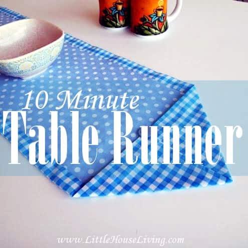 Ten Minute Table Runner - Little House Living