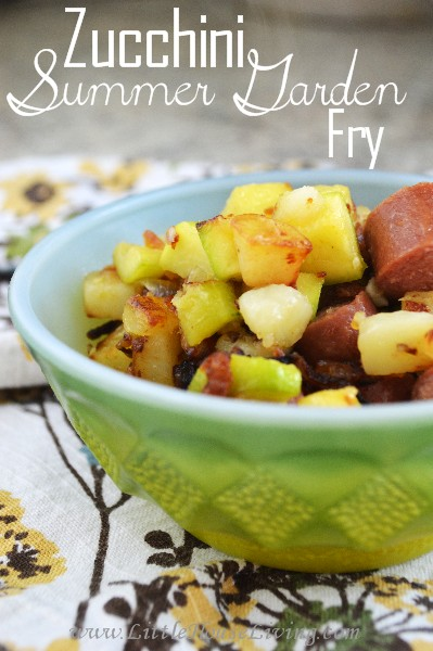 Zucchini Summer Garden Fry - Little House Living