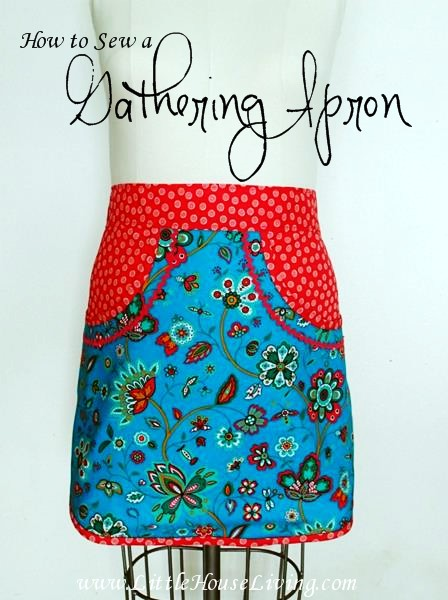 How to Sew a Gathering Apron - Little House Living
