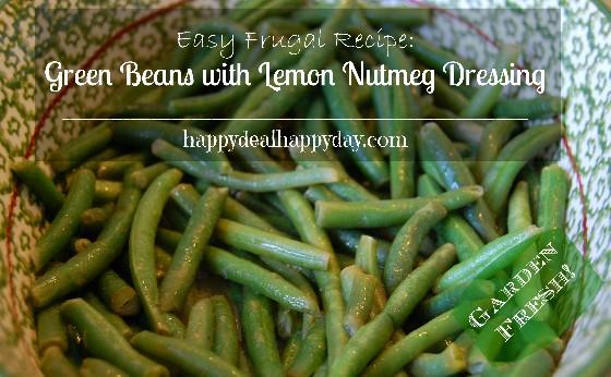 green beans with lemon nutmeg dressing