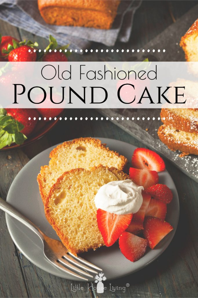 You'll love this delicious old fashioned pound cake recipe. It tastes just like the one your grandma used to make! #homemade #oldfashioned #fromscratch #poundcake
