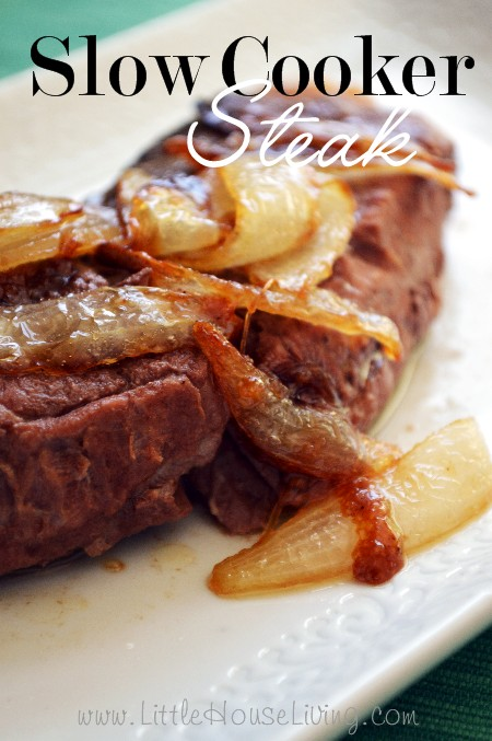 Slow Cooker Steak and Caramelized Onions – How to Cook Steak