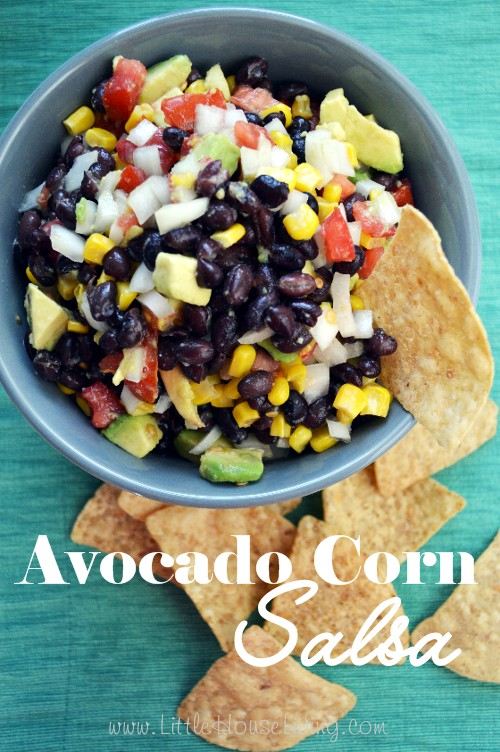 Avocado Corn Salsa Recipe - Little House Living