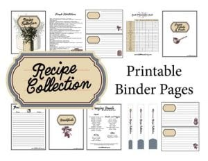Recipe Binder Pages