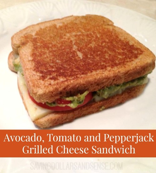 Using the Garden Veggies: Tomato Avocado Grilled Cheese