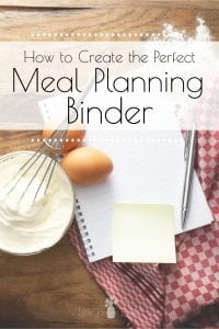 Don't think you have time to plan and organize your meals? I'm about to introduce you to the easiest meal planning method and recipe organization out there, the Meal Planning Binder. Know exactly what you are going to make and how to make it each week! #mealplanningbinder