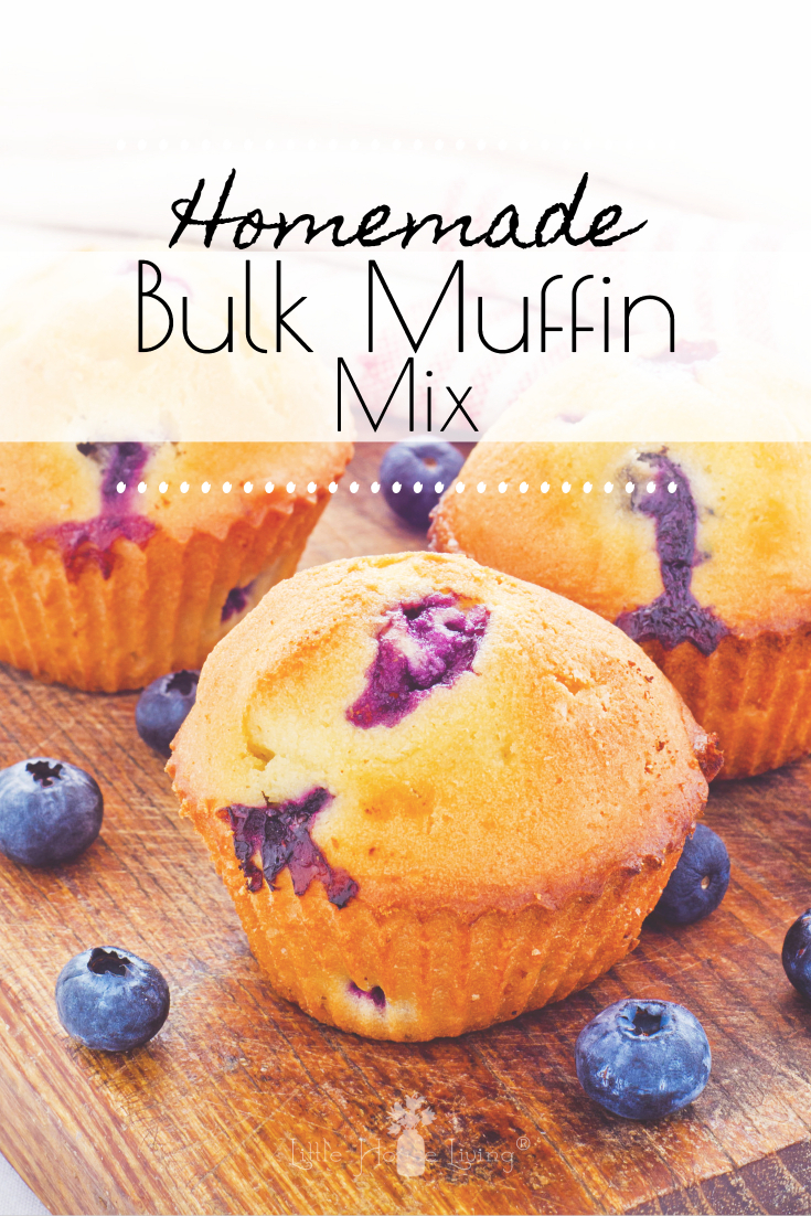 The recipe below is inspired by the classic, old-fashioned muffins that were made half a century ago. They're not loaded with sugar like most things are these days, but they still taste great. This amount of muffin mix fits perfectly in a quart-sized mason jar, but if you have something bigger for storage, you can easily double or triple the homemade muffin mix recipe for a larger supply. #muffinmix #homemademuffins
