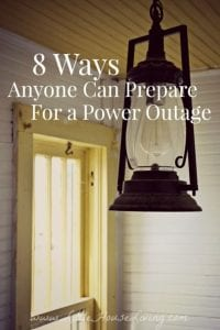 You never know when an unexpected power outage can occur but you can stay prepared. Here are a few ways anyone can prepare for a power outage. #beprepared #poweroutagepreparation #poweroutage #preparedness