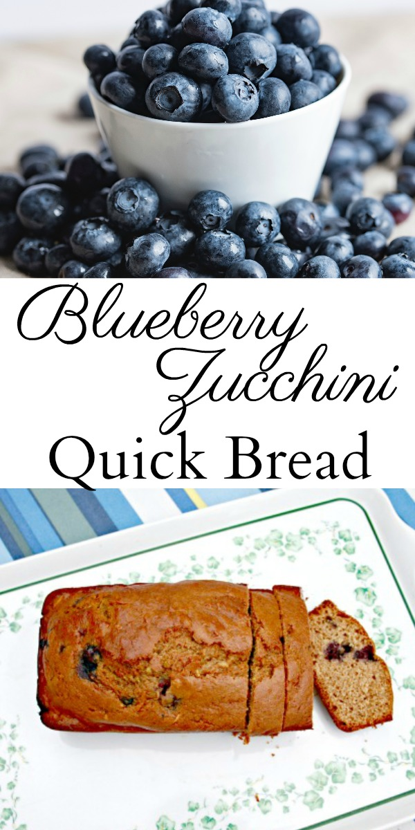 Looking for a new quick bread recipe to make? Your family will love this Blueberry Zucchini Bread recipe! #blueberryzucchinibread #blueberryzucchini #blueberryrecipes #zucchinirecipes