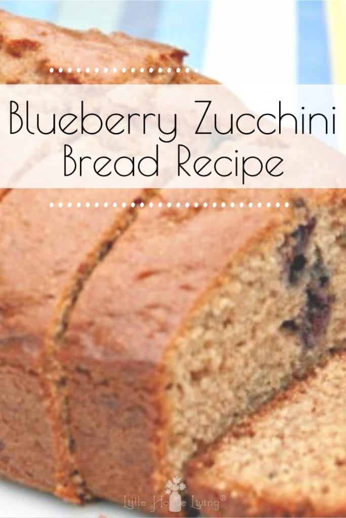 Looking for a new quick bread recipe to make? Your family will love this Blueberry Zucchini Bread recipe! #blueberryzucchinibread #blueberryzucchini #blueberryrecipes #zucchinirecipes #quickbread