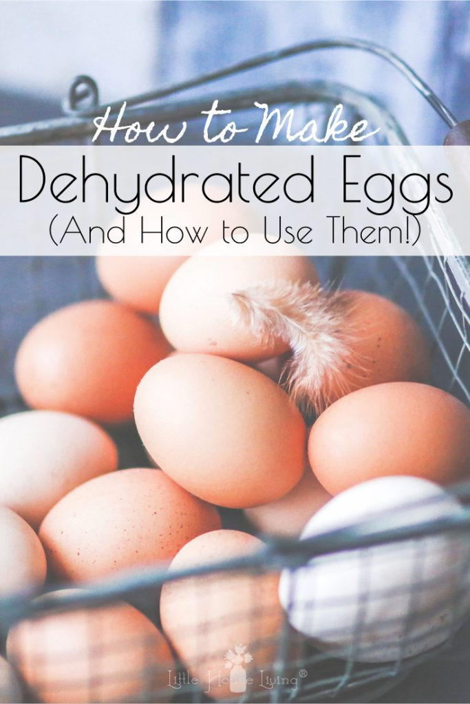 Dehydrated Eggs are a great way to preserve eggs if you find yourself with a surplus of them this spring. Learn how to make and use Dehydrated Eggs in your everyday meals. #preserveeggs #dehydratedeggs #homesteading #frugal
