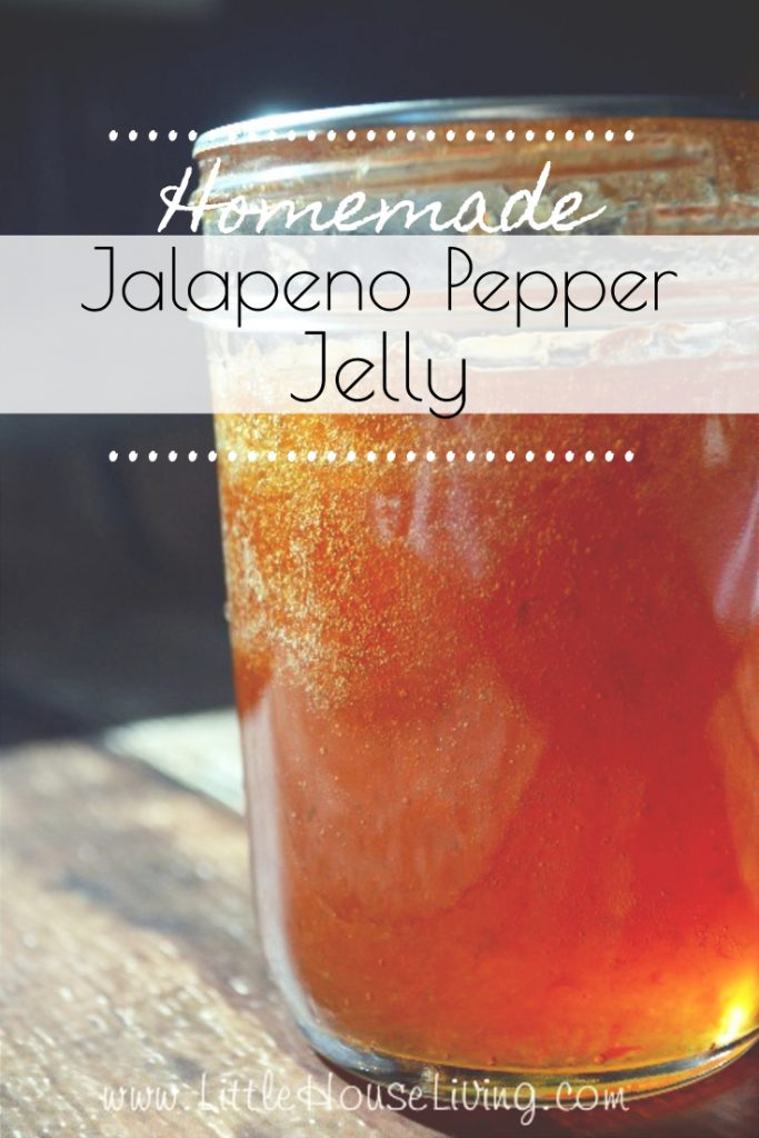Looking for a recipe to use those fresh jalapenos? Learn how to make this easy and delicious Jalapeno Pepper Jelly Recipe. #jellyrecipe #jalapenos #jalapenopepperjelly #jalapenopeppers