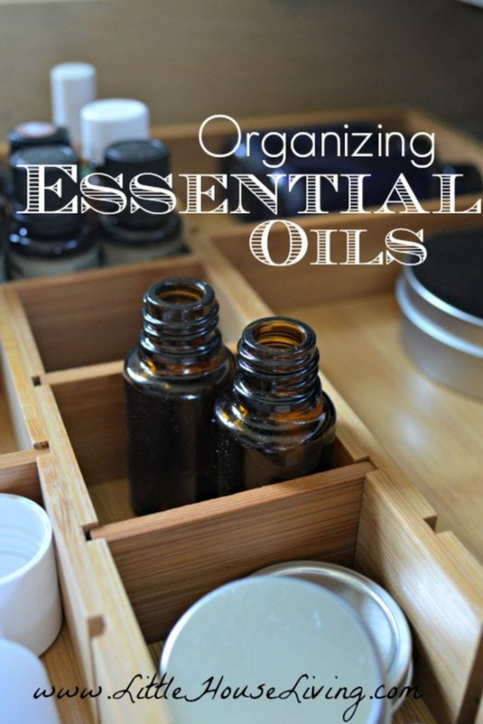 Do you own a good number of essential oils and other supplies for making things like homemade lotions and soaps that are needing to be organized? Here are some simple tips on organizing essential oils that can be utilized in any size space. #organizingessentialoils #organizedoils #essentialoilorganization