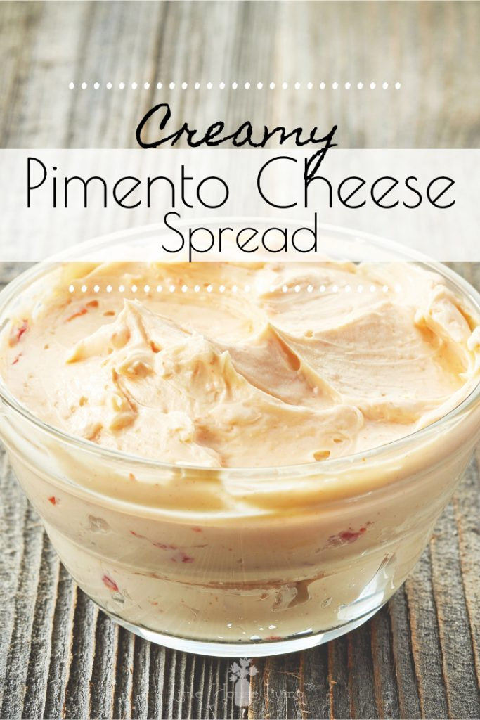 Looking for an easy and delicious snack? This Creamy, Cheese Pimento Spread is sure to become a new favorite with your friends and family! #dip #appetizer #snacks #pimentocheesespread