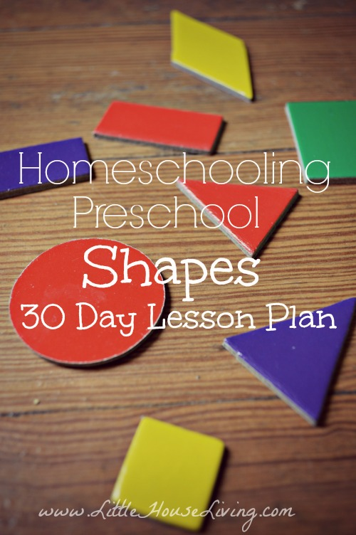 Shapes Lesson Plan for Preschool - Little House Living