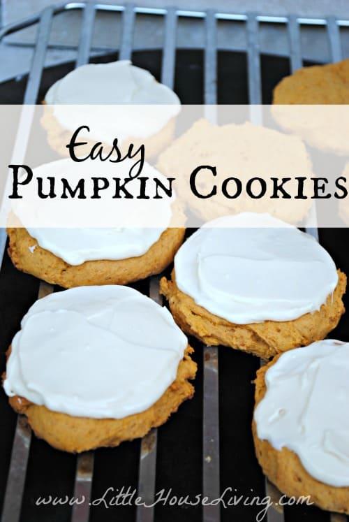 Easy Pumpkin Cookies - Little House Living