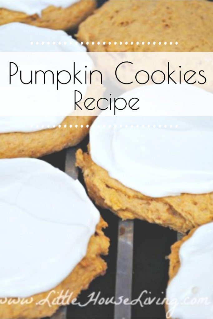 This Easy Pumpkin Cookies Recipe is the perfect fall treat! Topped with creamy maple frosting and so delicious, you're family will love them! #easycookierecipe #pumpkinrecipes #fallbaking #pumpkincookies