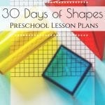 Planning on homeschooling your preschooler this year? Homeschooling a preschool-age child can be so much fun and so easy to incorporate into your day! Here is our Shapes Lesson Plan for Preschool. #shapes #preschoollessonplan #homeschoolingpreschool