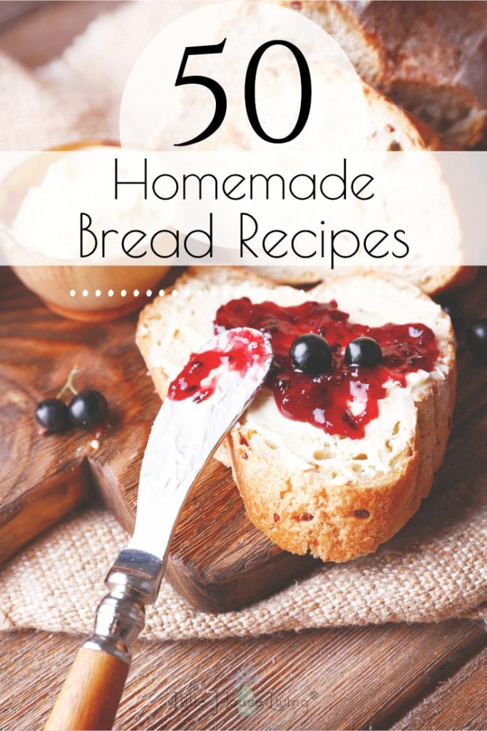 Here are over 50 amazing bread recipes from scratch- quick breads, sweet breads, yeast breads, cornbreads, biscuits, tortillas, rolls, gluten-free and more! #recipesfromscratch #breadfromscratch #quickbreadrecipes #glutenfreebreadrecipes #sweetbreadrecipes #rollrecipes