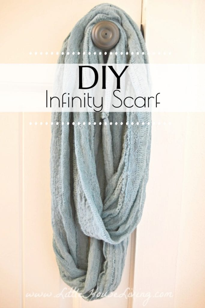 Learn How to Make an Infinity Scarf with this simple DIY tutorial in under 20 minutes! Make your own beautiful, easy to wear scarf in your choice of colors and patterns. #diy #makeyourown #diyscarf #infinityscarf #sewingtutorial #easyproject #diyinfinityscarf