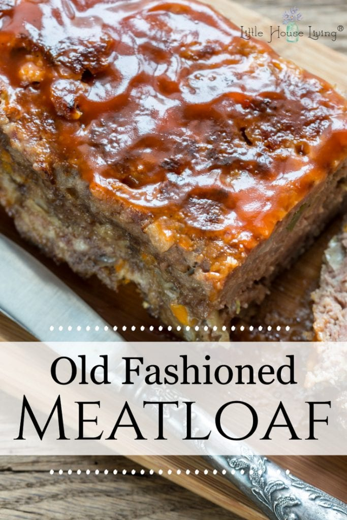 This Old Fashioned Meatloaf Recipe is simple, easy and delicious! It was a favorite growing up and it's sure to be a favorite around your dinner table now. #oldfashionedrecipes #oldfashionedmeatloaf #meatloaf #glutenfree #glutenfreemeatloaf #amishrecipes