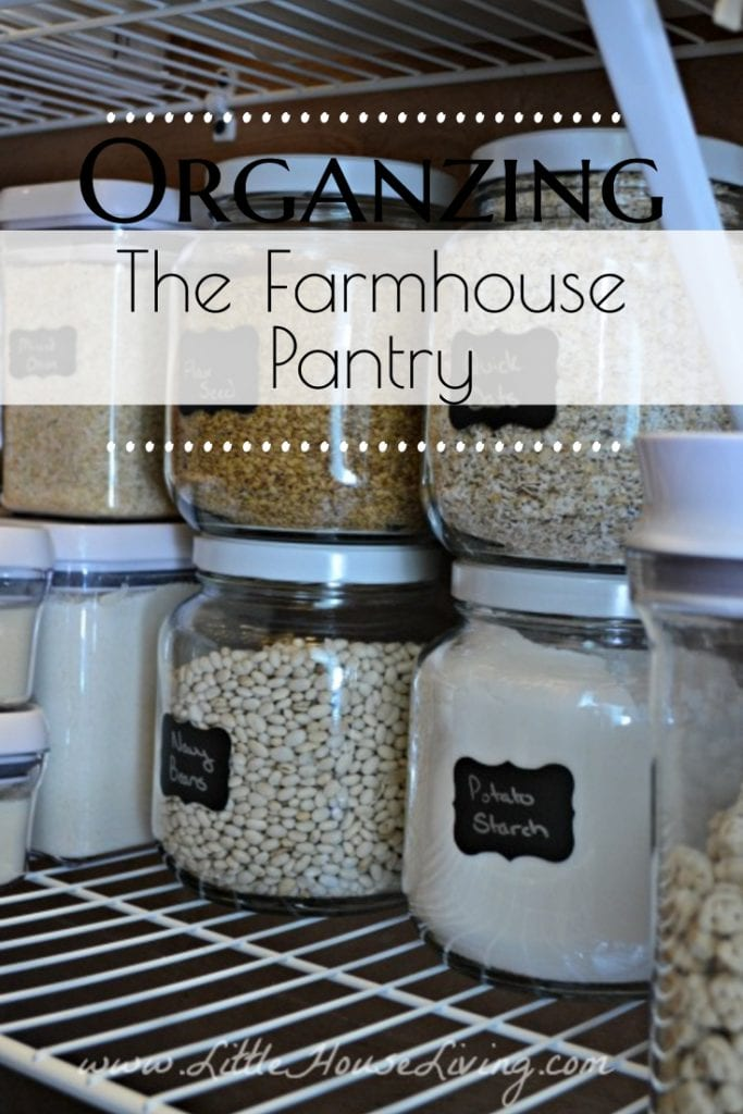 A good Farmhouse Pantry Organization system can help you find things when you need them and make sure nothing gets forgotten, saving you time and money! Get some tips and ideas on how to organize a pantry to make the most of your space. #farmhousepantry #pantryorganization #organization #organizedpantry #pantryideas