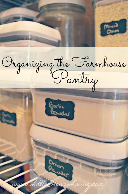 Post image for Organizing The Farmhouse Pantry