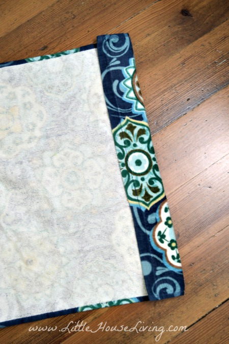 Sewing Top of Dish Towel Apron