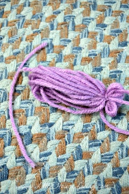 Tying Arms for Yarn Dolls