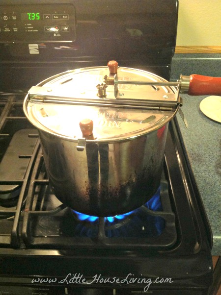 Cooking Kettle Corn on the Stove