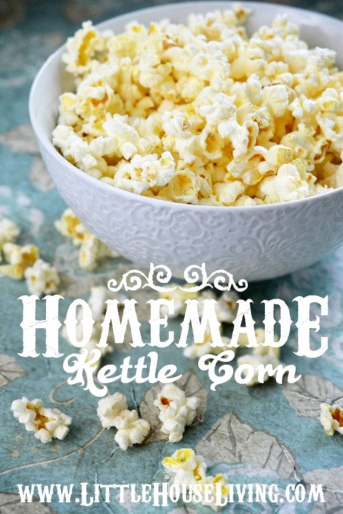 Looking for an easy and healthy snack? This homemade kettle corn recipe is the perfect balance of salty and sweet, a treat that everyone in your family is sure to love! #kettlecorn #homemadekettlecorn #kettlecornonstove #popcornonstove #sweetandsalty #snackideas