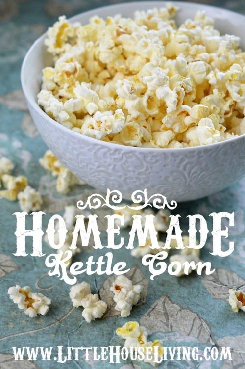 Recipe for Kettle Corn - Little House Living